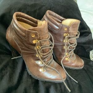 Michael Kors Brown high heel ankle boots